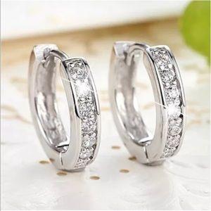 Jewelry - Cubic Zirconia Crystal Hoop Earrings
